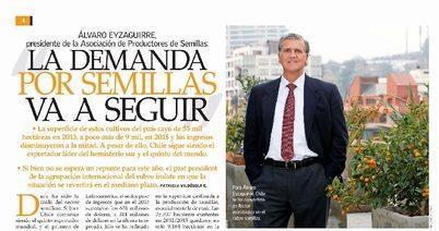 En la Revista del Campo de El Mercurio fue entrevistado  nuestro Presidente, Sr. Álvaro Eyzaguirre.